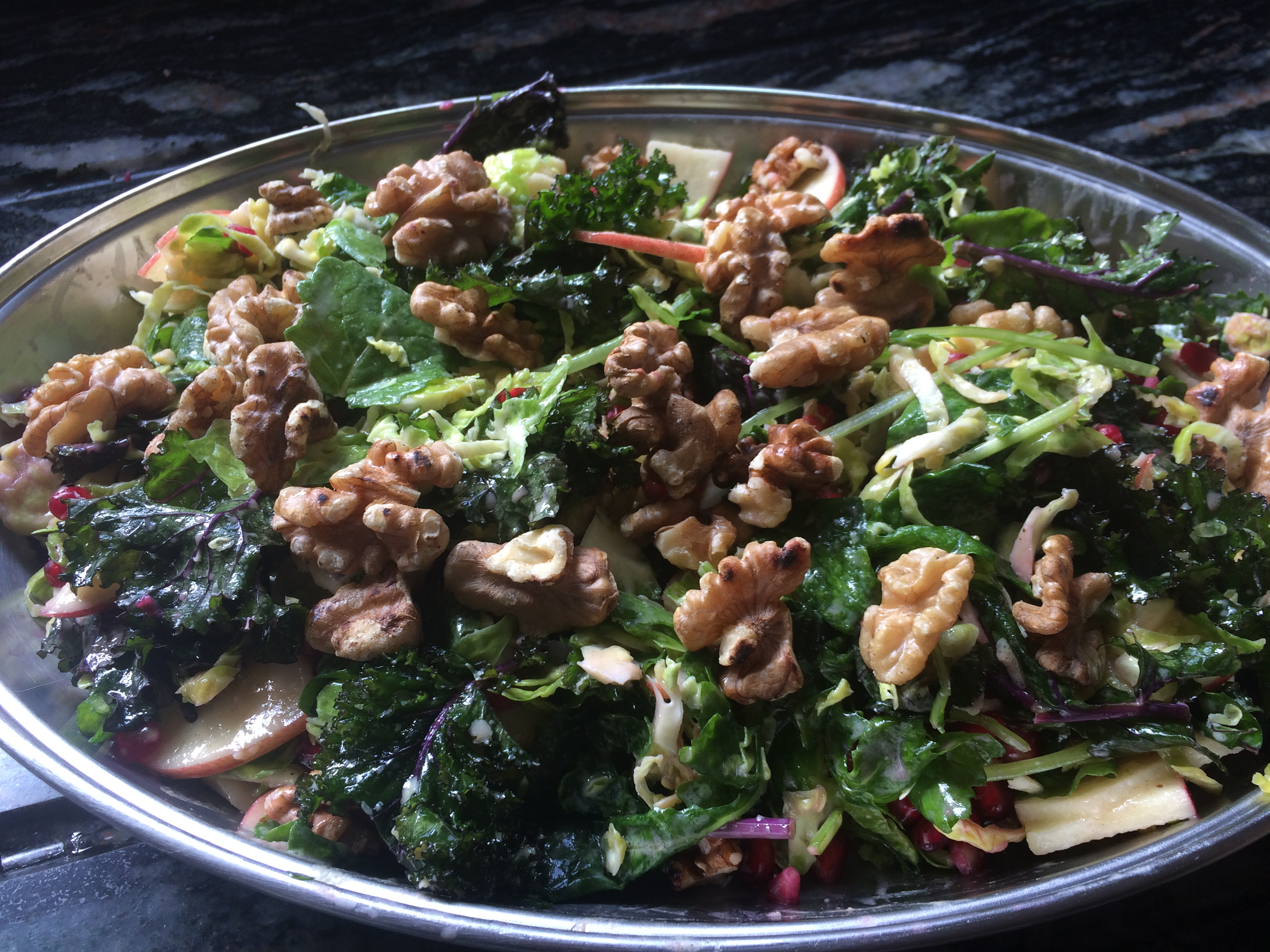 Kale, Brussel Sprout, Apple and Pomegranate Salad ...